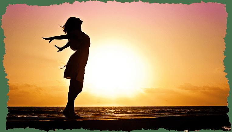 femme coucher de soleil lumière peau