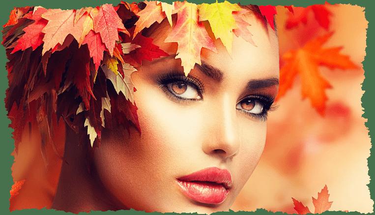 Femme maquillage Automne Veld's