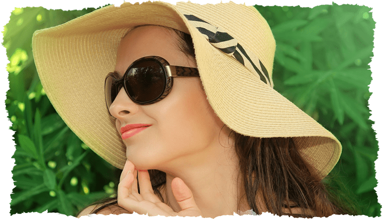 Femme chapeau rentrée beauté