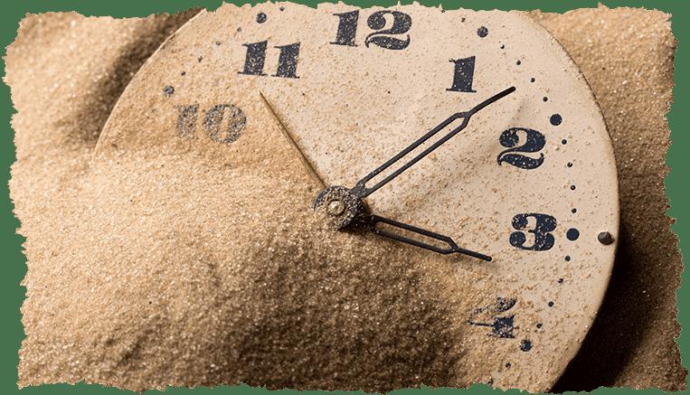 Horloge sable temps rides