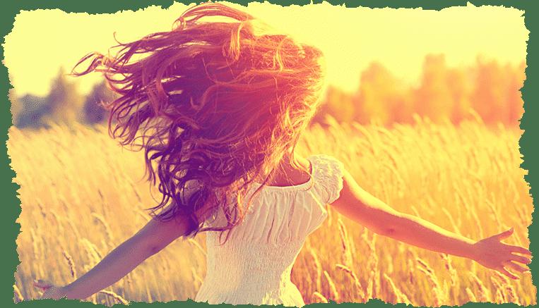 Femme beaux cheveux automne