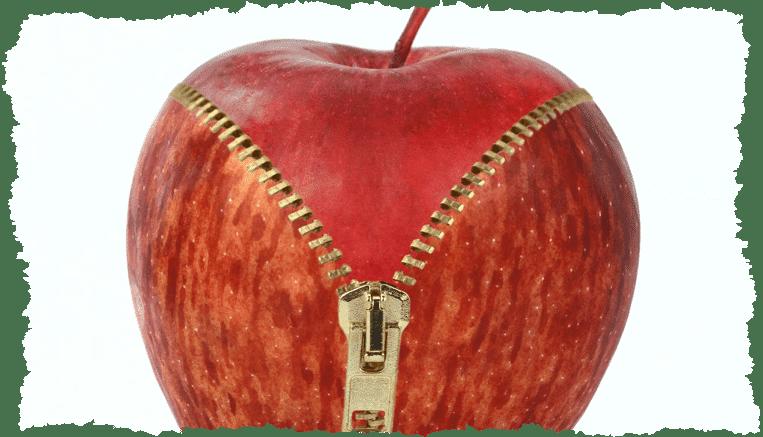Concept pomme imperfections peau