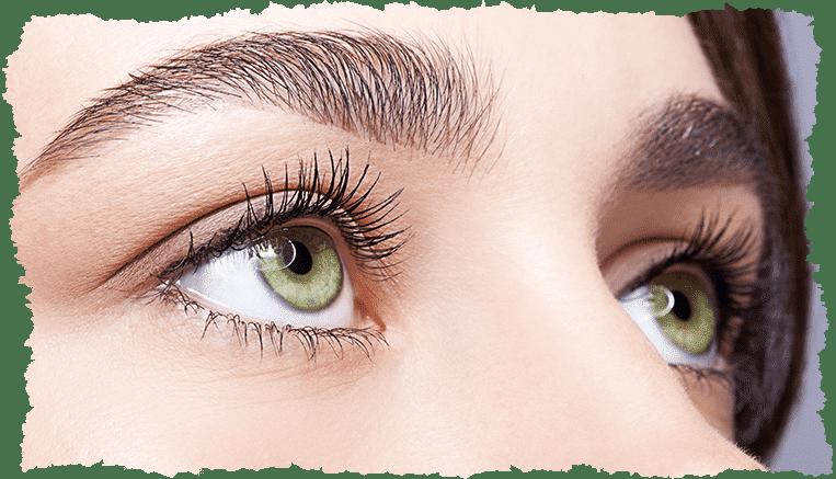 Regard femme yeux pétillants