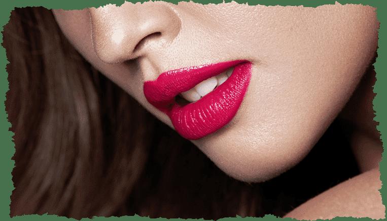Lèvres pulpeuses femme