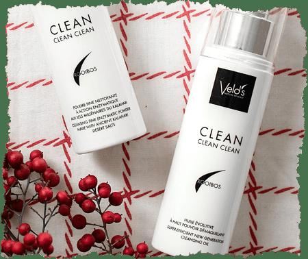 Veld's Clean huile démaquillante et poudre nettoyante visage