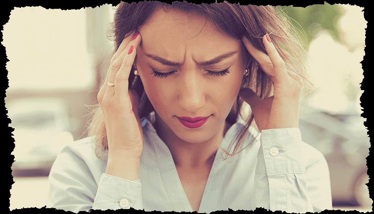 Femme stress visage