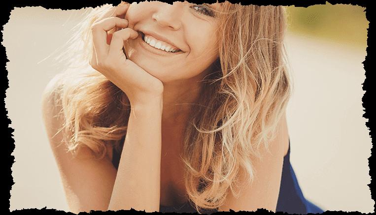 Femme blonde raffermir peau - velds