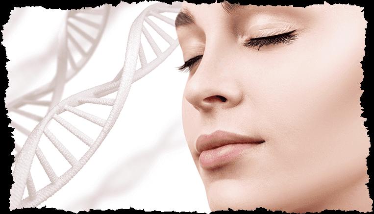 Visage femme collagene