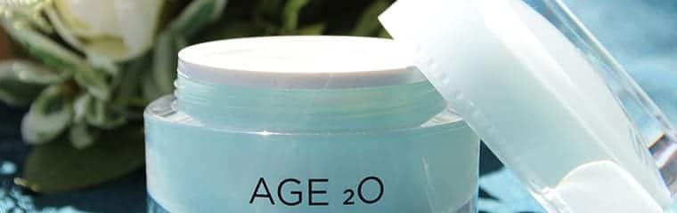 crème hydratante Age2o bouquet fleurs séchées