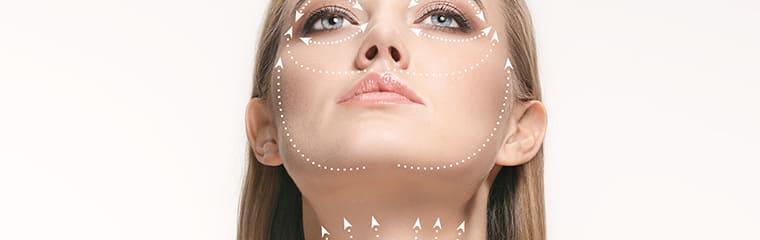 visage femme flèches massage