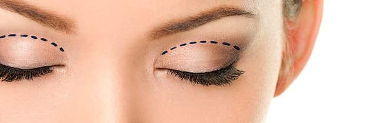 yeux femme paupière supérieure