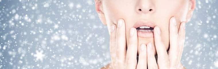 peau fraîche froid visage