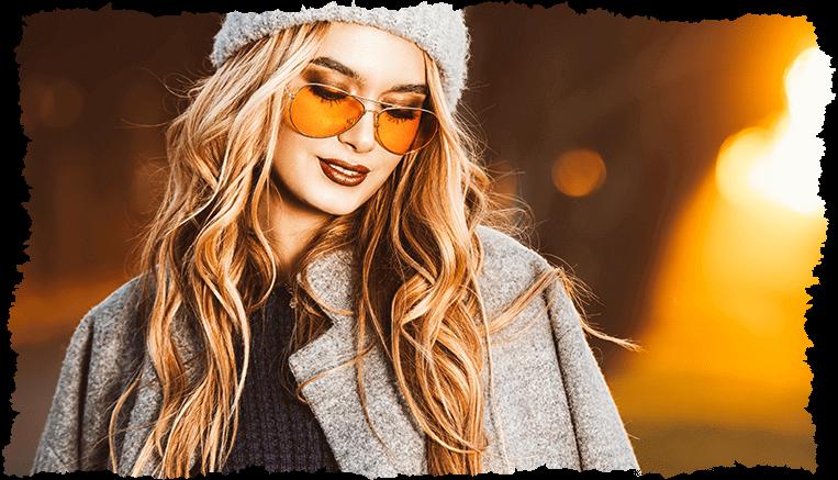 femme automne bonnet teint lumineux