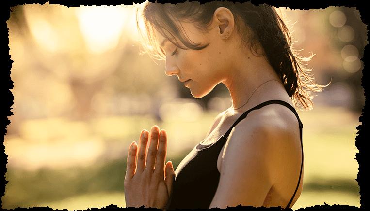 femme yoga visage