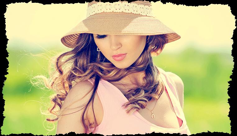peau claire femme chapeau été