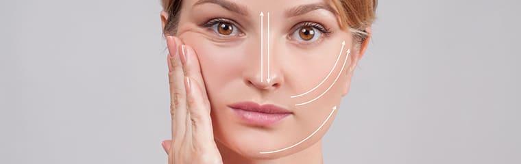 femme concept traits visage gym faciale